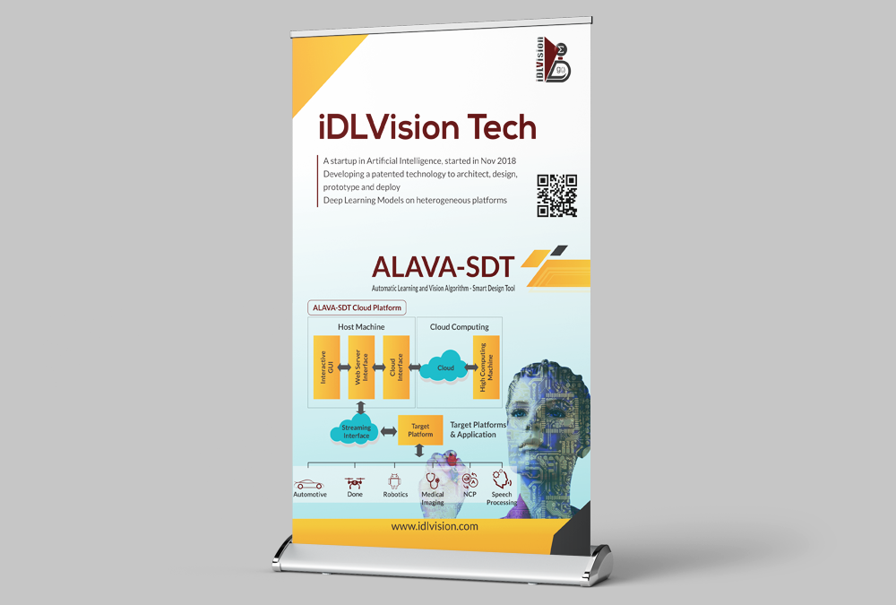 IDL vision artificial intelligenc standee design artbuzz Advertising