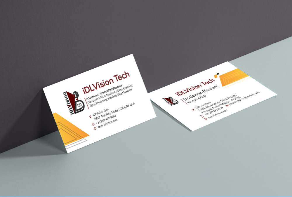 IDL-vision artificial intelligenc softwear business card design marketing artbuzz Advertising