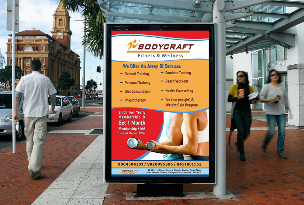 Bodycraft fitness and wellness advertising design artbuzz Advertising