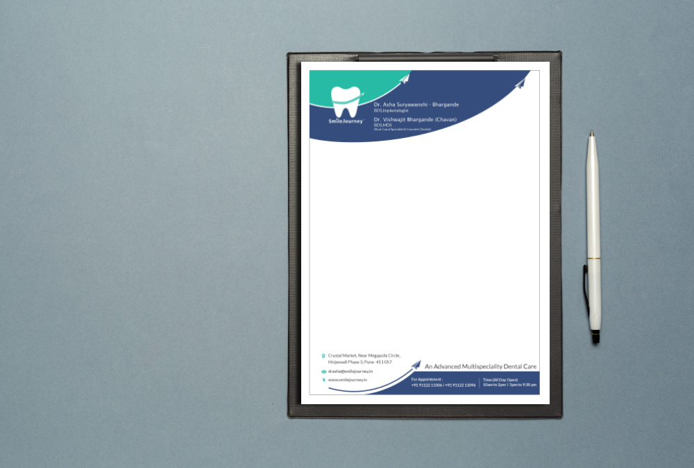 stationary design for smilejourney dentalcare clinic artbuzz advertising